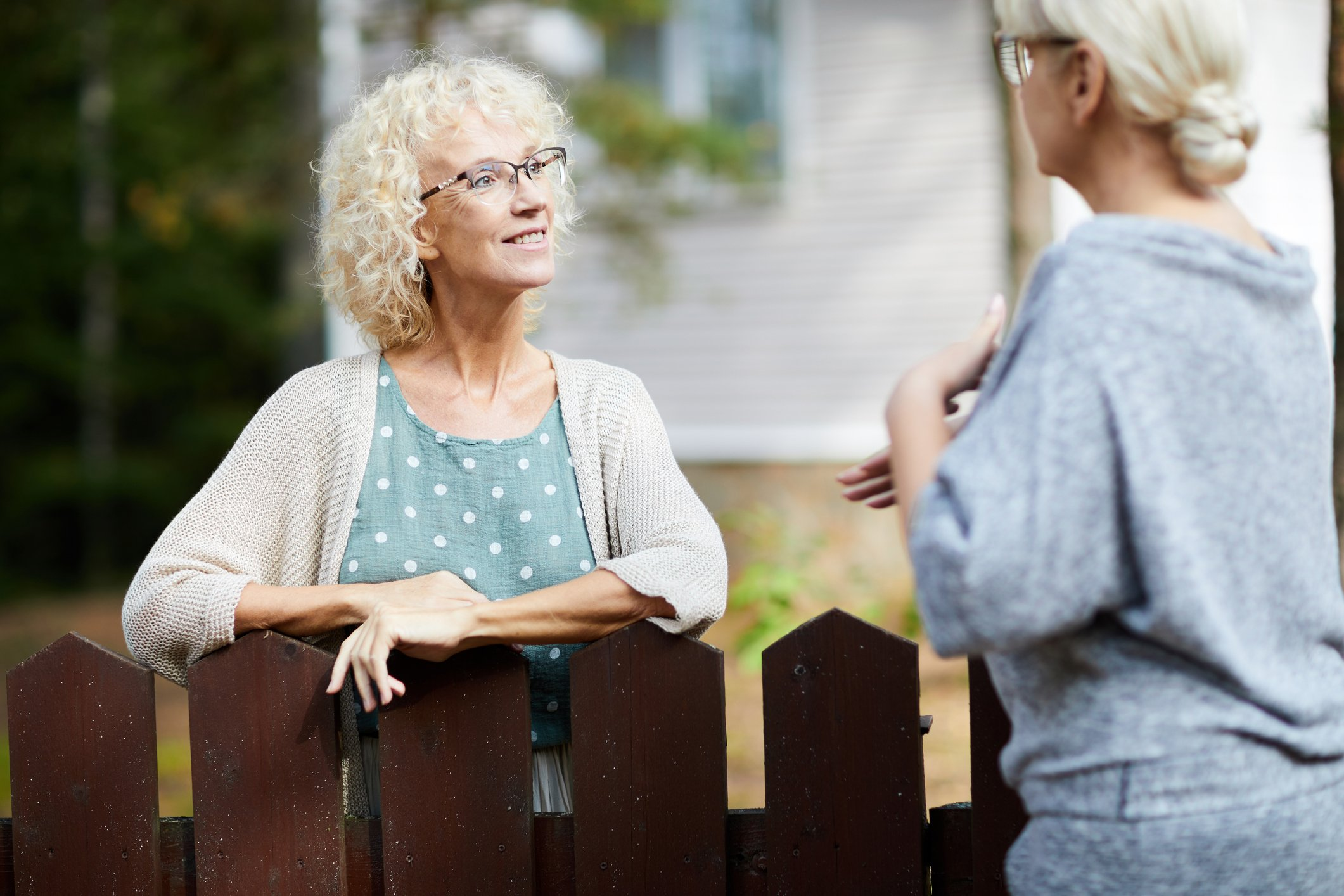neighbours talk to each other