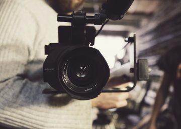 A TV camera pointing at the reader